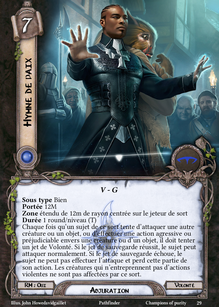 Hymne de paix Carte Sort Pathfinder