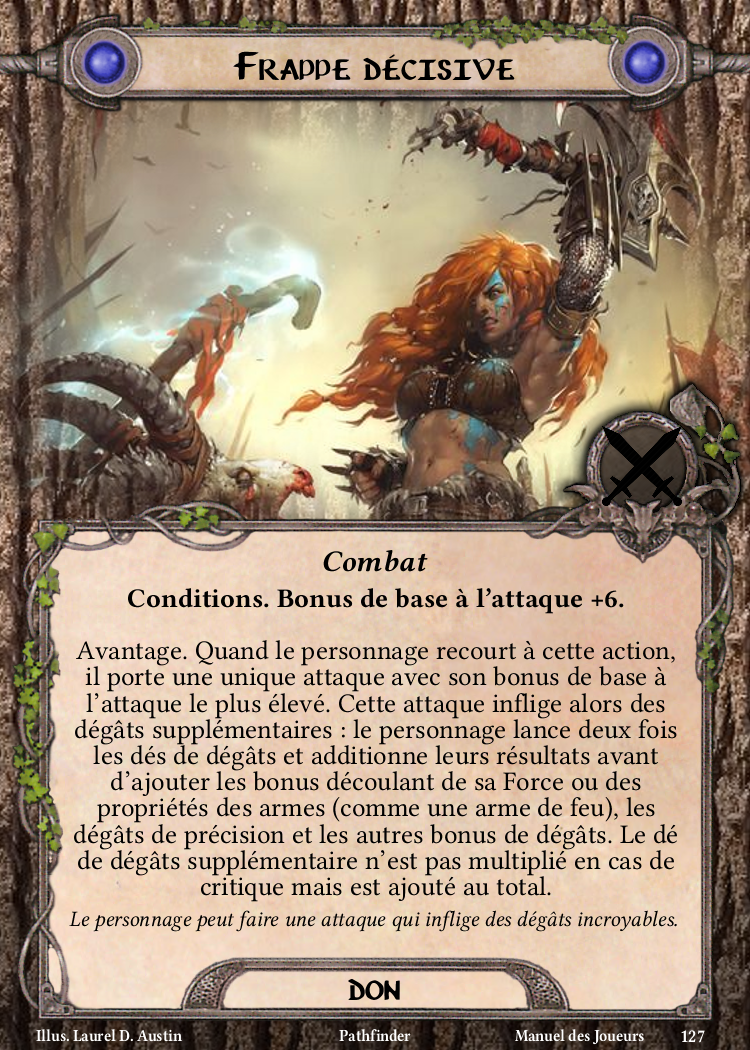 Frappe décisive Carte Don Pathfinder