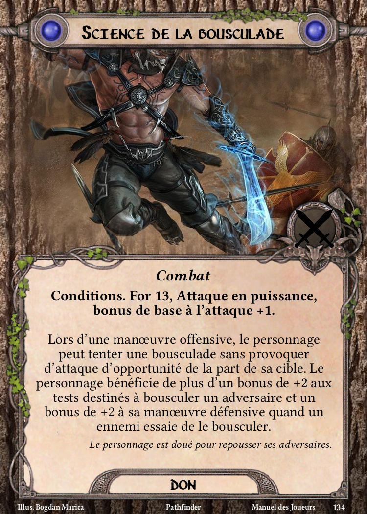 Science de la bousculade Carte Don Pathfinder