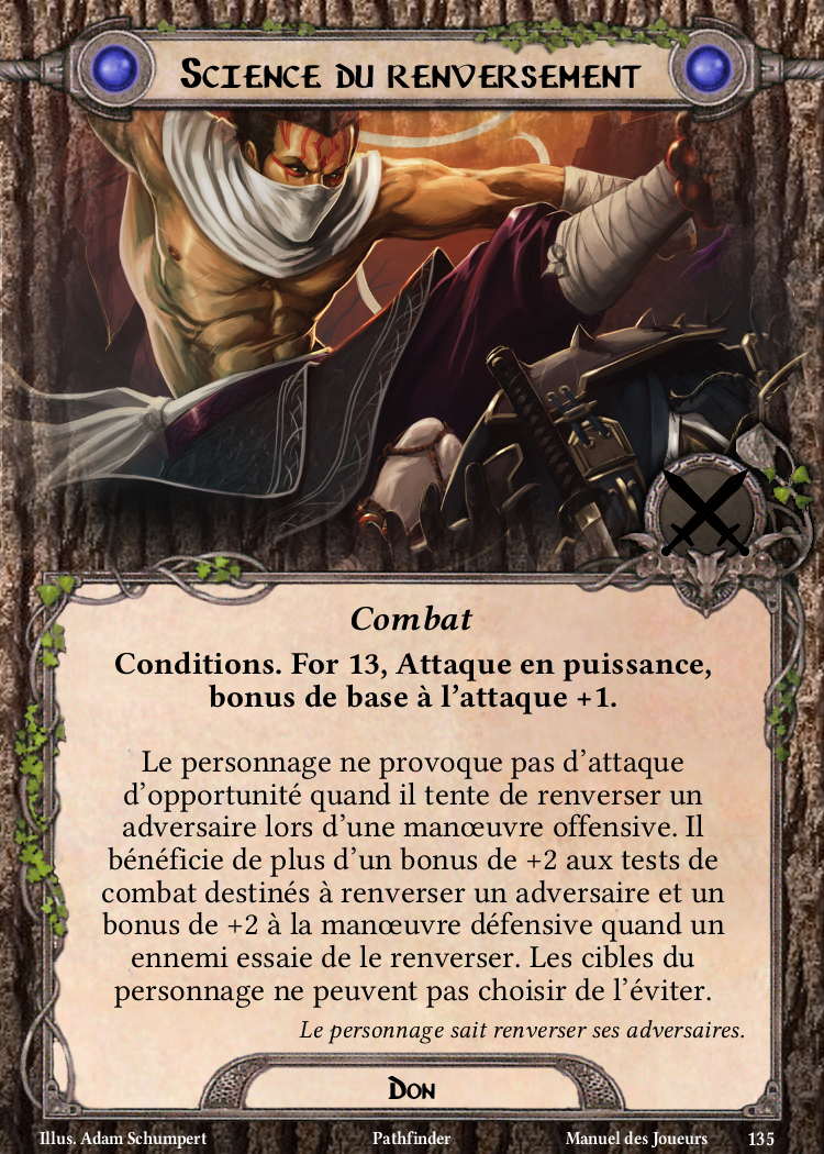 Science du renversement Carte Don Pathfinder
