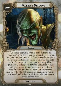 Carte de PNJ Vieille Beldame